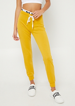 Dark Yellow Blessed Joggers