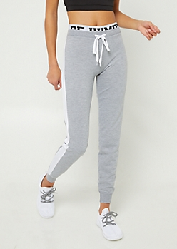 Heather Grey Be Humble Joggers