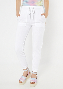 White Skinny Joggers
