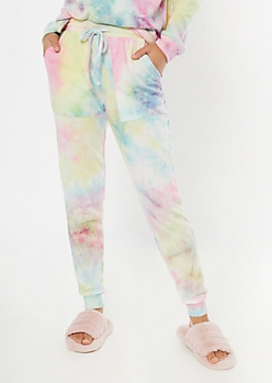 Pastel Tie Dye Hacci Knit Joggers