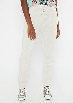 Heathered Oatmeal Cozy Boyfriend Joggers