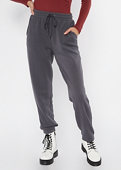 Charcoal Gray Cozy Boyfriend Joggers