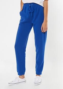 Royal Blue Cozy Boyfriend Joggers