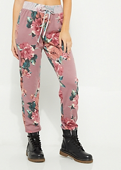 Pink Floral Joggers