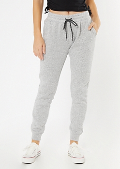 Gray Sweater Knit Joggers
