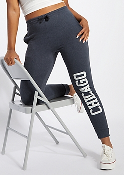 Charcoal Gray Chicago Boyfriend Joggers