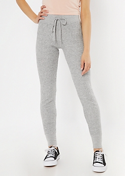 Heather Gray Thermal Skinny Joggers