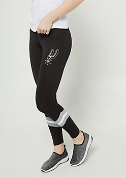 San Antonio Spurs Chevron Striped Leggings