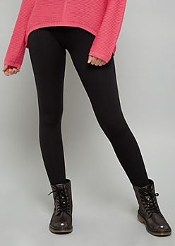 Black Fleece Low Rise Leggings