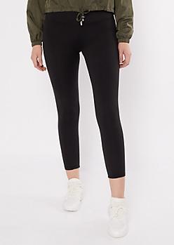 Black Essential Fleece Lined Leggings
