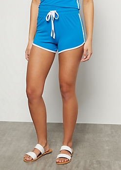 Bright Blue High Waisted Super Soft Dolphin Shorts