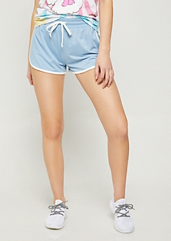 Blue Super Soft Dolphin Shorts
