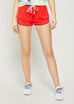 Red Super Soft Dolphin Shorts