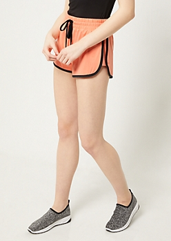 Coral Super Soft Dolphin Shorts