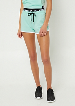 Mint Be Humble Contrast Dolphin Shorts