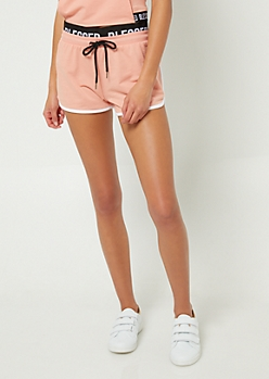 Coral Blessed Contrast Dolphin Shorts