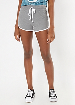 Gray High Waisted Super Soft Dolphin Shorts