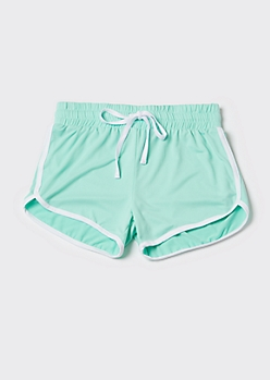 Mint Super Soft Dolphin Shorts