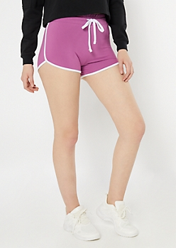 Magenta High Waisted Super Soft Dolphin Shorts