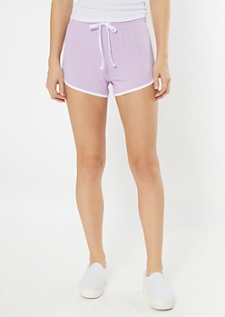 Lavender High Waisted Super Soft Dolphin Shorts