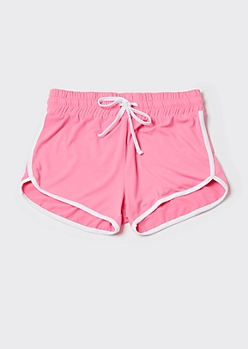 Neon Fuchsia Super Soft Dolphin Shorts