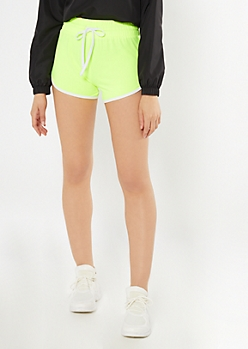 Neon Yellow Super Soft Dolphin Shorts