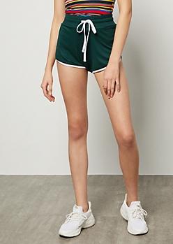 Dark Green High Waisted Super Soft Dolphin Shorts