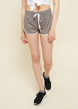 Heather Gray Super Soft Dolphin Shorts