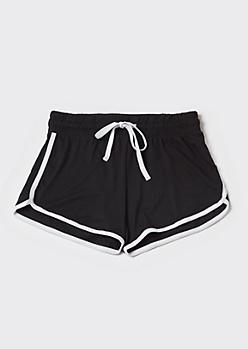 Black Super Soft Dolphin Shorts
