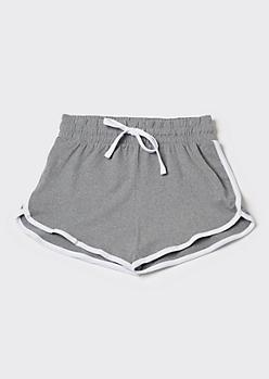 Heather Gray Super Soft Dolphin Shorts