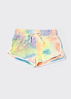 Bright Tie Dye Super Soft Dolphin Shorts