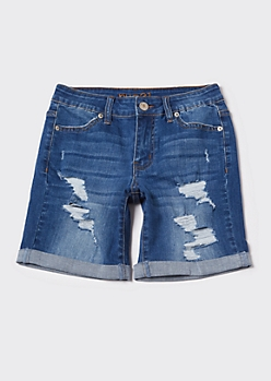 Ultimate Stretch Rolled Bermuda Jean Shorts