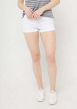 Better Butt White Denim Shorts