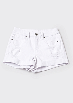 Ultimate Stretch White High Rise Curvy Shorts
