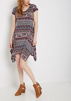 Folklore Sharkbite Dress & Tassel Necklace