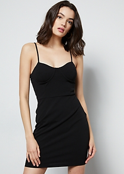 Black Bustier Bodycon Dress