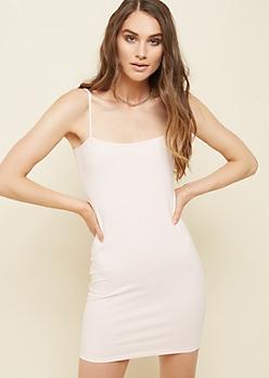 Light Pink Mini Bodycon Dress