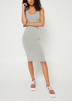Gray Tank Midi Dress