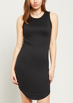 Black Super Soft Tank Dress