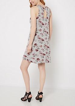 Floral Keyhole Tank Swing Dress