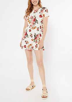 Floral Print Super Soft Babydoll Dress