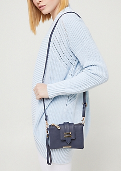 Blue Multi Function Crossbody Bag