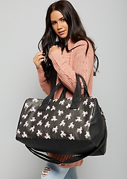 Black Flying Unicorn Duffle Bag
