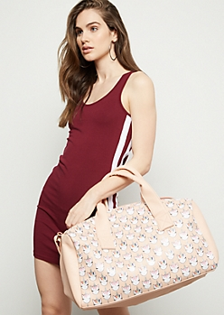 Light Pink Glitter Unicorn Duffle Bag