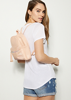 Pink Glitter Pocket Mini Backpack