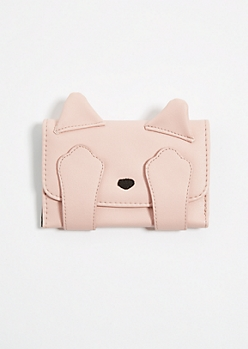 Pink Kitty Critter Wallet