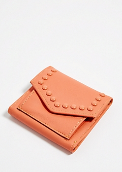 Coral Studded Mini Envelope Wallet