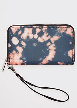 Black Bleached Tie Dye Wallet