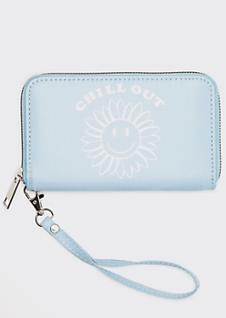 Blue Chill Out Daisy Print Wallet