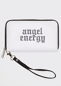 White Angel Energy Print Wallet